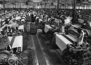 1965:  A cotton mill in Kinshasa.