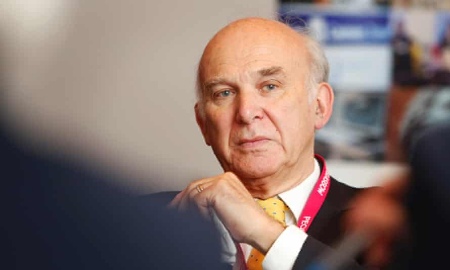 Vince Cable at the Guardian Immigration breakfast roundtable discussion at The Liberal Democrats Party annual national conference.