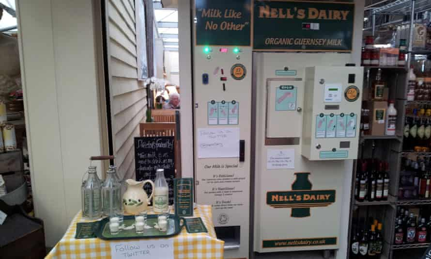 Nell's dairy in Gloucestershire is selling its milk through vending machines
