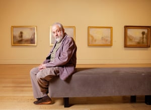 Mike Leigh, photographed at the Late Turner exhibition at the Tate Britain.