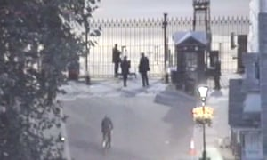 CCTV from Downing Street shows Andrew Mitchell