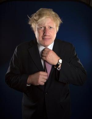 London Mayor Boris Johnson at the Churchill Hotel in Portman Square, London