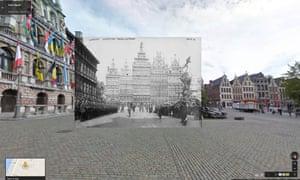 German landing troops in Antwerp 1914-15