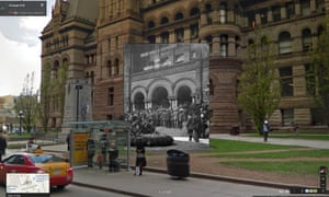 Recruiting drive, City Hall, Toronto 1914