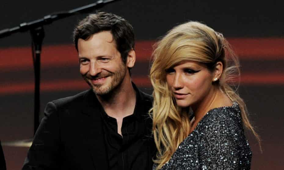 Dr Luke and Kesha pose onstage at the ASCAP pop music awards in 2011.