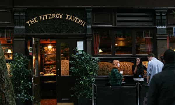 The Fitzroy Tavern, a favourite Thomas haunt