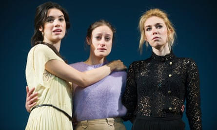 Gala Gordon (Irina), Mariah Gale (Olga) and Vanessa Kirby (Masha) in Three Sisters directed by Benedict Andrews at the Young Vic in 2012.