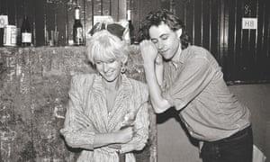 Bob Geldof with Paula Yates backstage at Wembley Stadium during the Live Aid concert