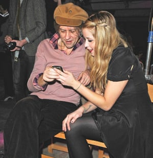 Bob Geldof with his daughter Peaches in 2009