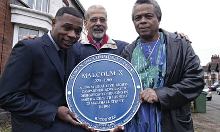 Blue plaque for Malcolm X