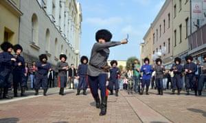 Russian Cossacks in Banja Luka