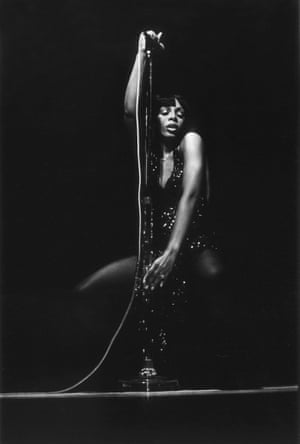 Donna Summer performs on stage in Washington, 1978