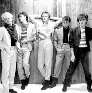 Duran Duran in London in 1981. From left to right, guitarist Andy Taylor, bassist John Taylor, singer Simon Le Bon, drummer Roger Taylor and keyboard player Nick Rhodes