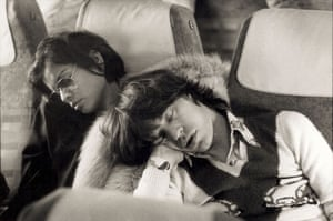 Mick Jagger sleeping alongside his wife Bianca Jagger the morning after the end of their European tour party in Berlin on October 20, 1973