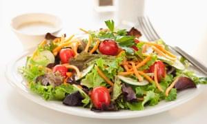 Fresh salad on a plate.