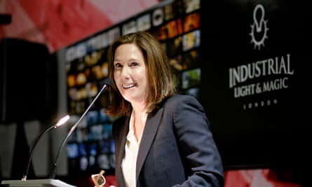 Kathleen Kennedy, president of Lucasfilm, at the opening of the Industrial Light and Magic studios i