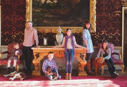 Lord and Lady Coke with their four children at Holkham Hall