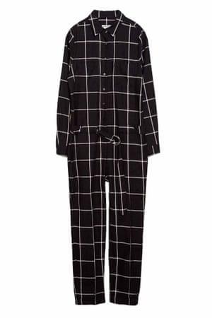 black white check jumpsuit