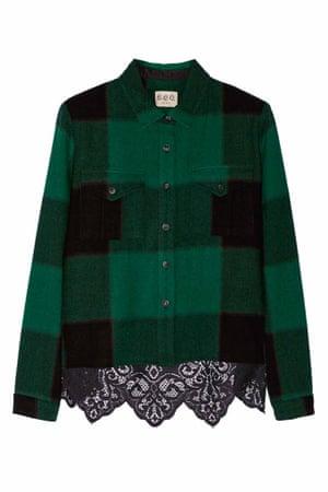 lumberjack jacket in black green check