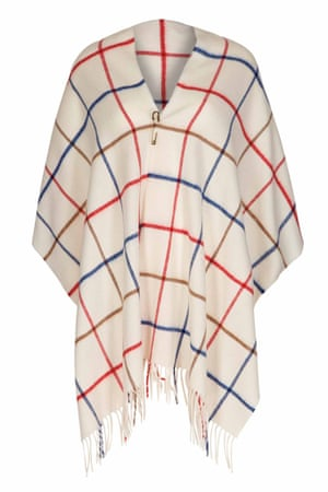 wrap in blue white red brown check