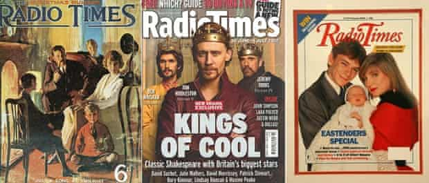 Radio Times covers from (l to r) 1923, 2012 and 1990