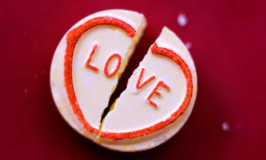 A love heart sweet broken in two