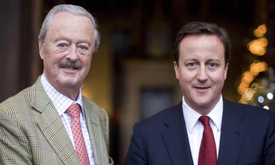 The Duke of Marlborough and David Cameron in 2009.