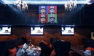 Dinner at the Putin Pub in Bishkek