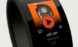 Will.i.am unveiled his Puls smartcuff at a conference in San Francisco.