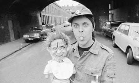 Genesis P-Orridge (Neil Megson) of Throbbing Gristle, late 1970's.