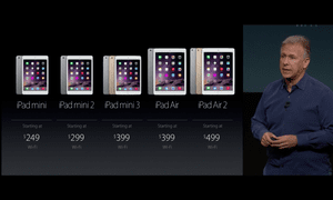 The new – and old – iPads.