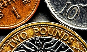 UK pounds pence coins