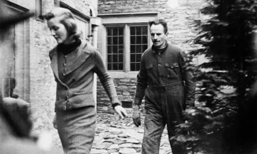 December 1943: Diana Mitford and husband Oswald Mosley at the hotel in Shipton-under-Wychwood, Oxfordshire, where they are under house arrest