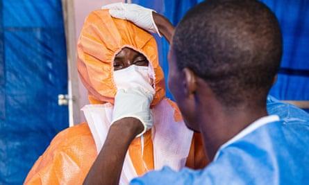 Ebola treatment centre in Sierra Leone