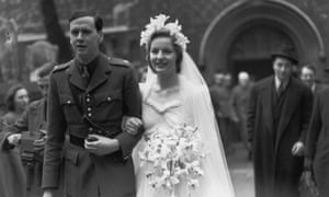 The Duke of Devonshire, Lord Andrew Cavendish, and wife Deborah Mitford, 19 April 1941.