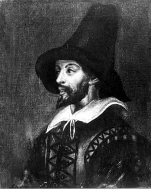 Portrait of Guy Fawkes done anonymously during his time in captivity when he was tortured before signing a confession.
