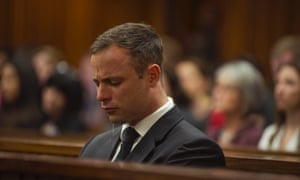 Oscar Pistorius attends his sentencing hearing on Friday.