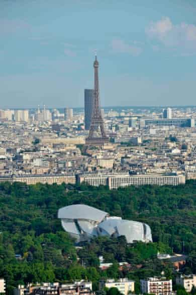 The  Louis Vuitton Foundation is situated in the Bois de Boulogne, to the west of central Paris.