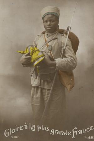 French colonial soldier Senegal postcard WW1 prisoner