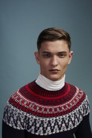 Jason wears white rollneck, £29.95, and FairIsle knit, £49.95, both gap.co.uk