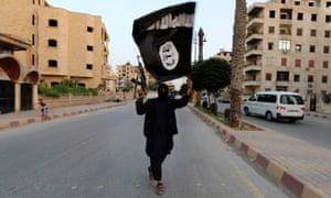 An Islamic State fighter in Raqqa, Iraq.
