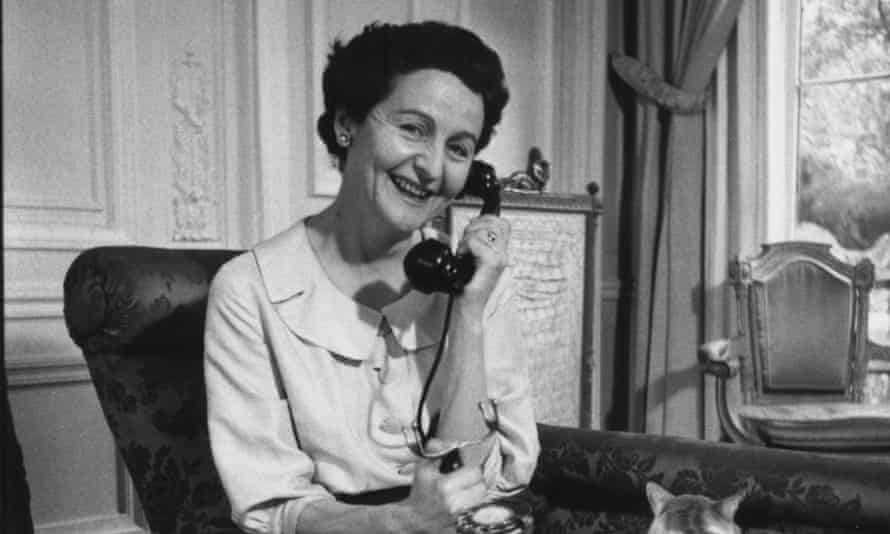 May 1956: Nancy Mitford in her apartment in Paris.