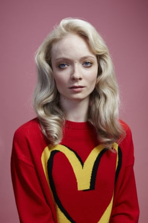 India wears red jumper, £495, by Moschino, fromselfridges.com.