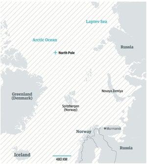 The Arctic region.