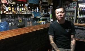 SMZB frontman Wu Wei. Photograph: Tim Jonze for the Guardian