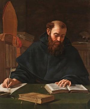Saint Augustine by Caravaggio.