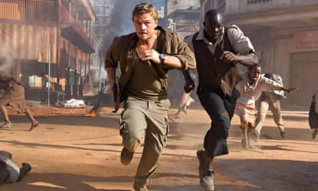 Leonardo DiCaprio and Djimon Hounsou in a scene from Blood Diamond