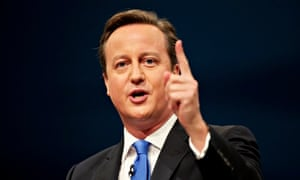 David Cameron pointing during a speech