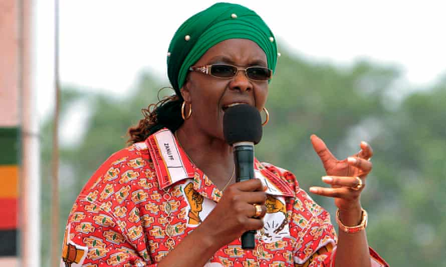 Grace Mugabe at her first political rally in Chinhoyi. She is expected to become head of the Zanu-PF