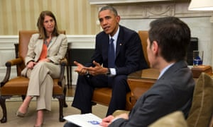 Obama with health advisers